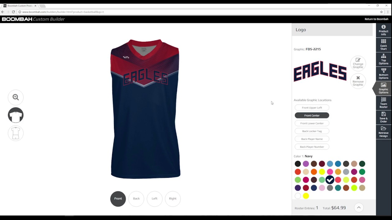 8082facb31c7 Men s Custom Basketball Uniform Builder - Boombah INK - YouTube