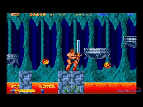 1989 Nastar Rastan Saga II (Arcade) Game Playthrough Retro game