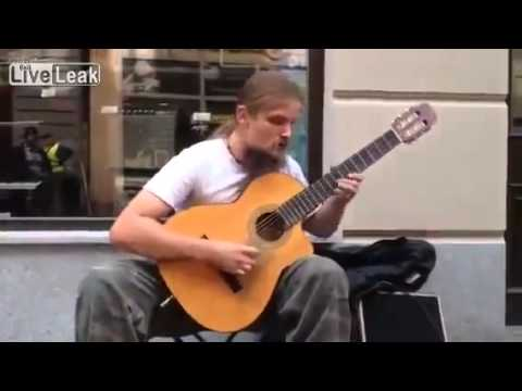 Amazing guitar man! BEST Street artist on YouTube!