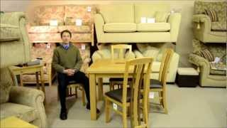 Steve Takes A Closer Look ... Oak Flip Top Dining Table With 4 Chairs - Browns Furniture Flintshire