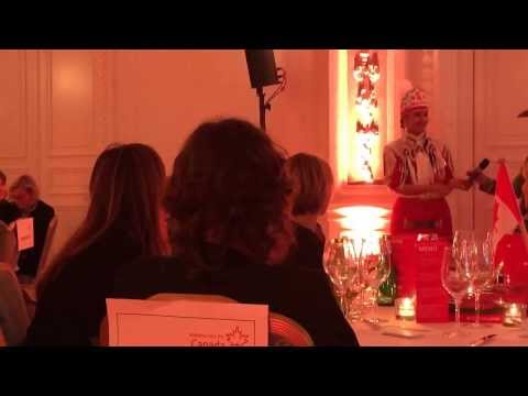 Calgary Stampede Indian Princess 2014 dance at culinary travel event in Hamburg #exploreCanada