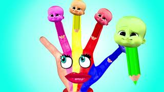Body Paint Hand Finger Family Learn Colors | Nursery Rhymes Best Compilation | Boss baby Body Paint