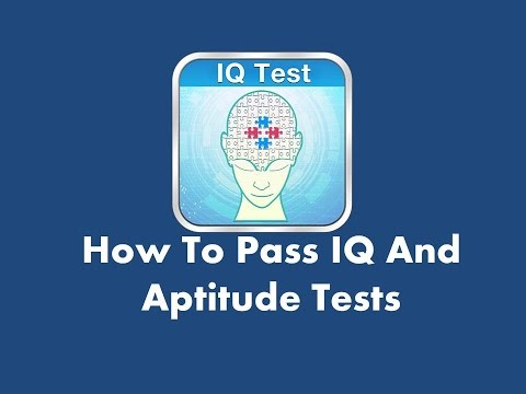 IQ and Aptitude Tests - Sample test questions, explanations