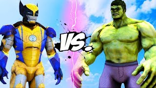 THE HULK VS IRON MAN - WOLVERINE