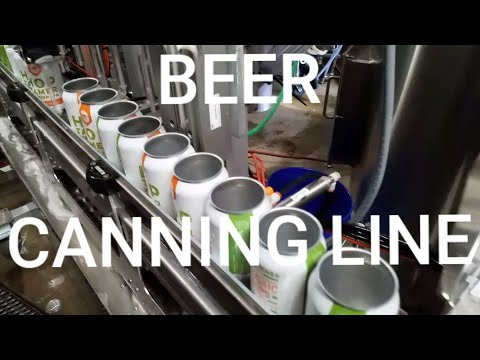 Microbrewery Canning! Beer Canning Line