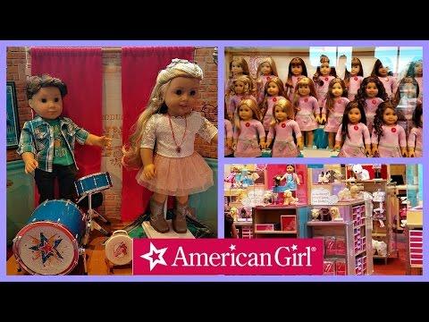 Shopping At American GIRL Doll   Picking up LOGAN EVERETT  2017