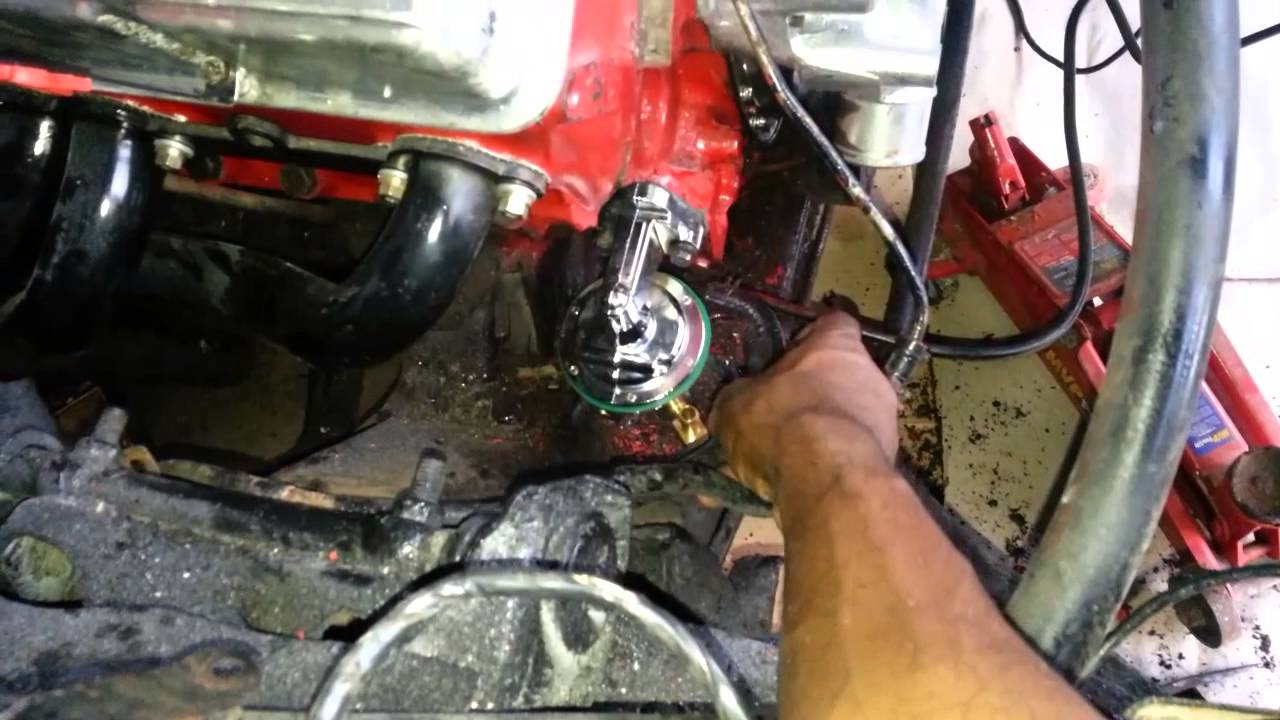 350 chevy fuel line help - YouTube