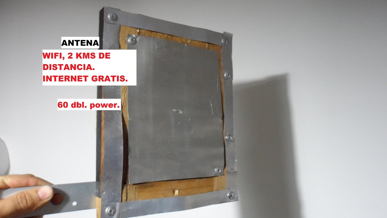 Antena wifi con latas de refresco 60 dbl internet gratis - Antena tdt interior casera ...