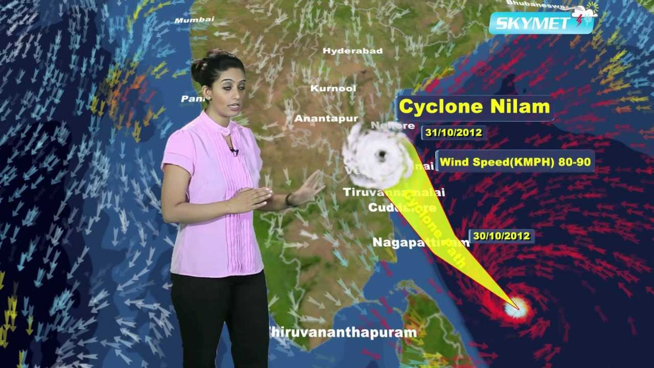 India Nilam Cyclone Update Skymet Weather Report YouTube - Today satellite map