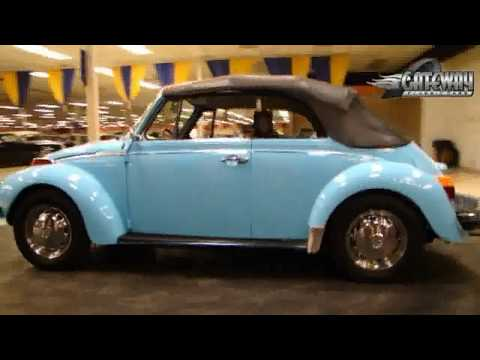 1974 Volkswagen Super Beetle Convertible for sale at Gateway Classic Cars in our St. Louis showroom