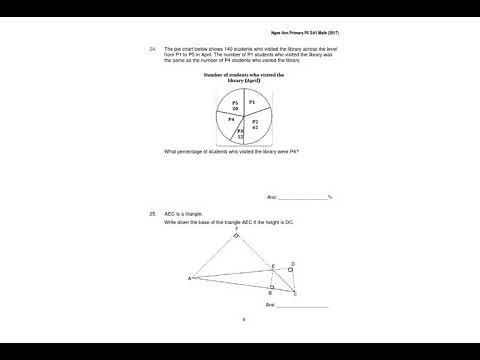 P6 Mathematics - Lesson on Mon, 23042018 1230pm (2017 P6 SA1 Maths)