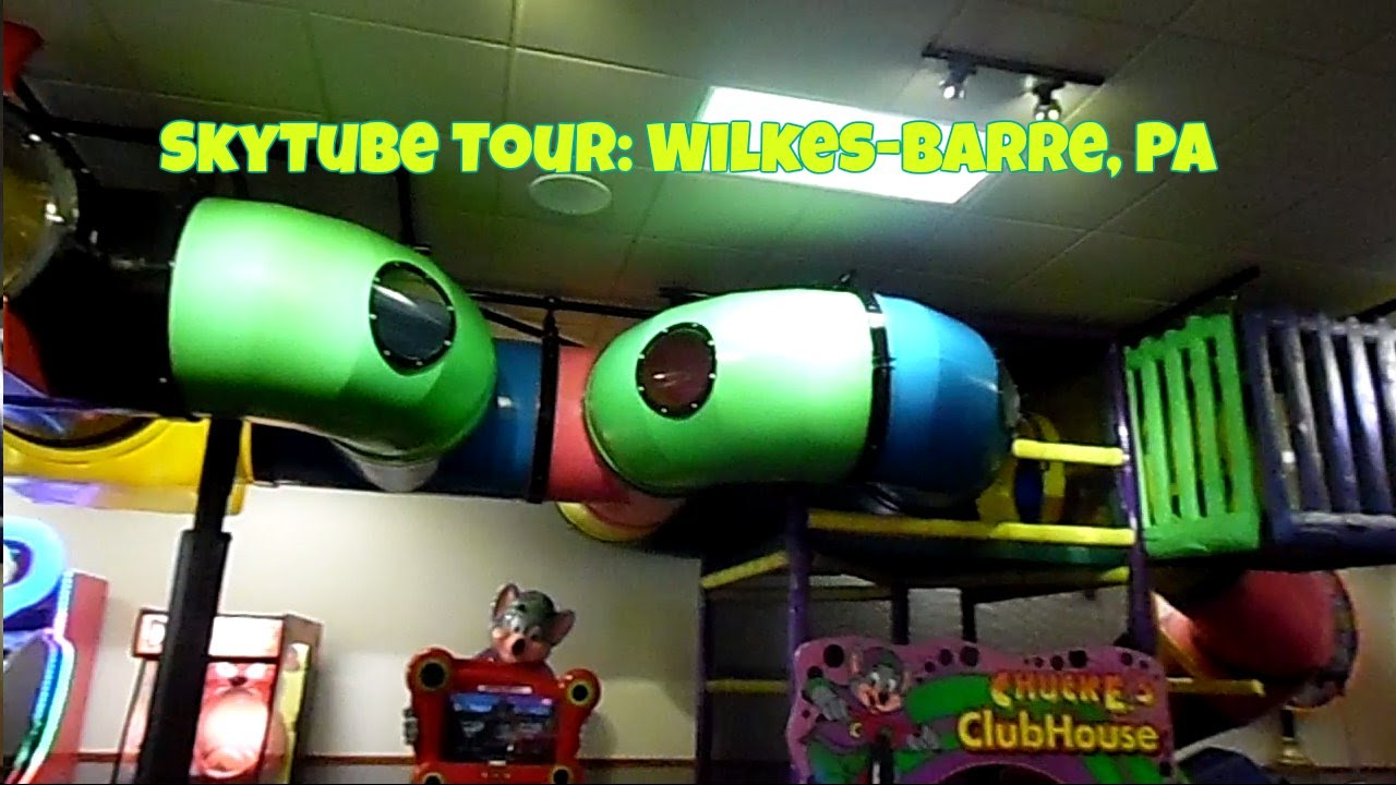 Chuck E Cheese S Skytube Tour Wilkes Barre Pa August
