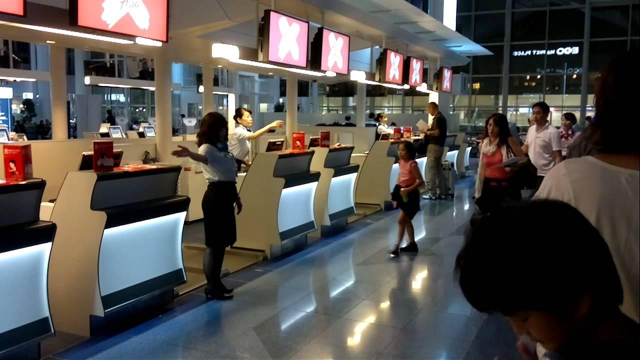 Airasiax Check In Counter At Haneda Airport Youtube