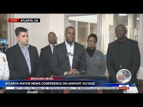 Atlanta Mayor News Conference on Power Outage at Atlanta Airport
