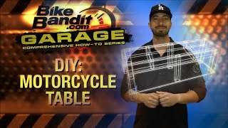Bikebandit Garage: How-to Diy Motorcycle Table At Bikebandit.com