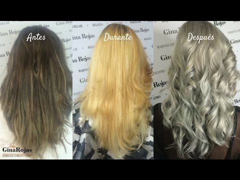 Tutorial Cabello Gris Silver Hair Decoloración Paso A Paso Gina Rojas Youtube