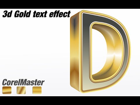coreldraw tutorial how to make 3d gold text effect youtube. Black Bedroom Furniture Sets. Home Design Ideas