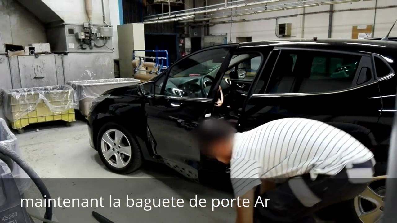 tuto d montage baguettes de porte av ar clio 4 disassembly front and rear door protection clio. Black Bedroom Furniture Sets. Home Design Ideas