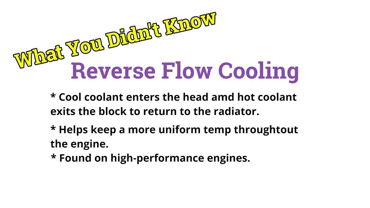 reverse flow cooling system engine diagram [ 1280 x 720 Pixel ]