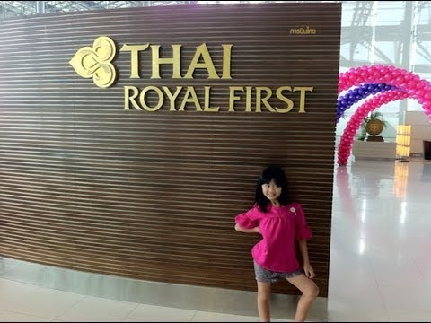 Thai Airways First Class Lounge, Thai First Class Suites B777-300ER, BKK-FRA