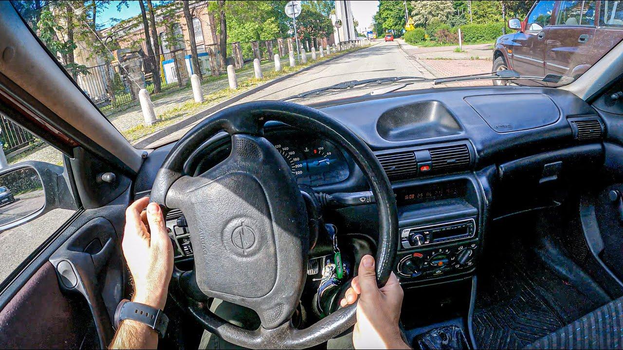 1999 Opel Astra F [1.4 I 60 HP]   POV Test Drive #807 Joe Black