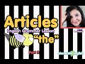 """Articles: """"the"""" in English Grammar 