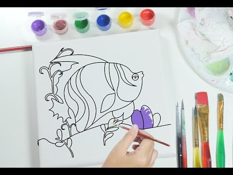 coloring for kids paint and drawing fish for children - Paint Drawing For Kids