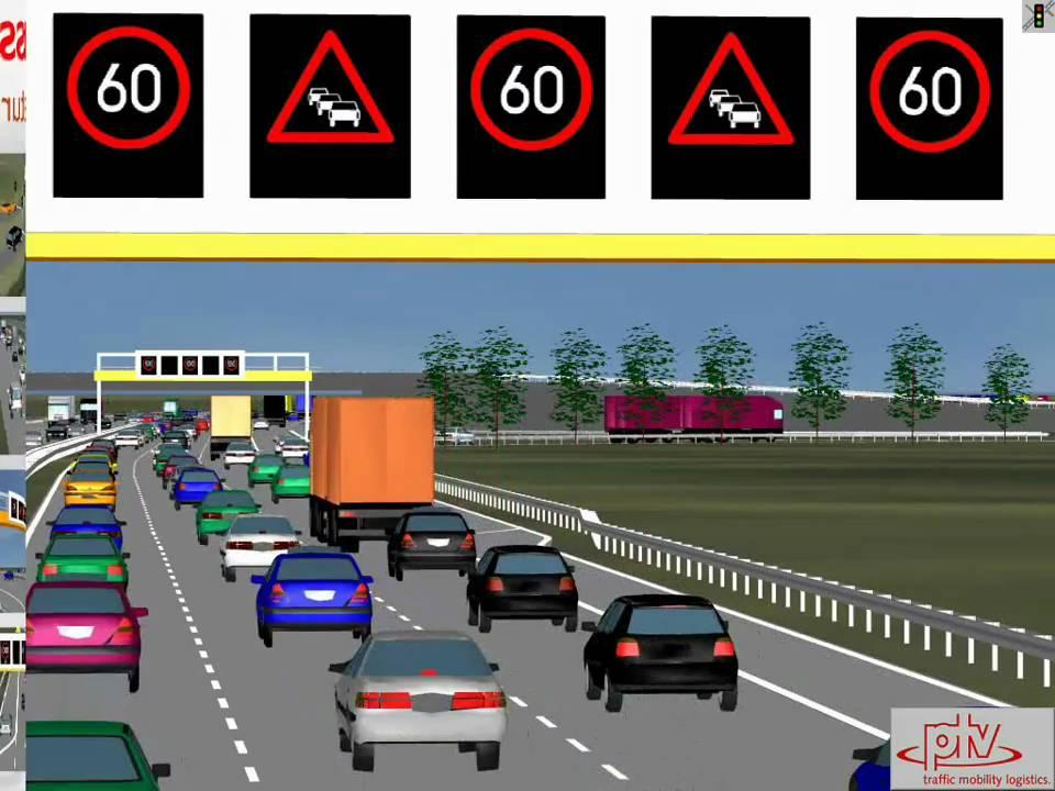 Ptv Vissim Simulation Of Active Traffic Management Youtube