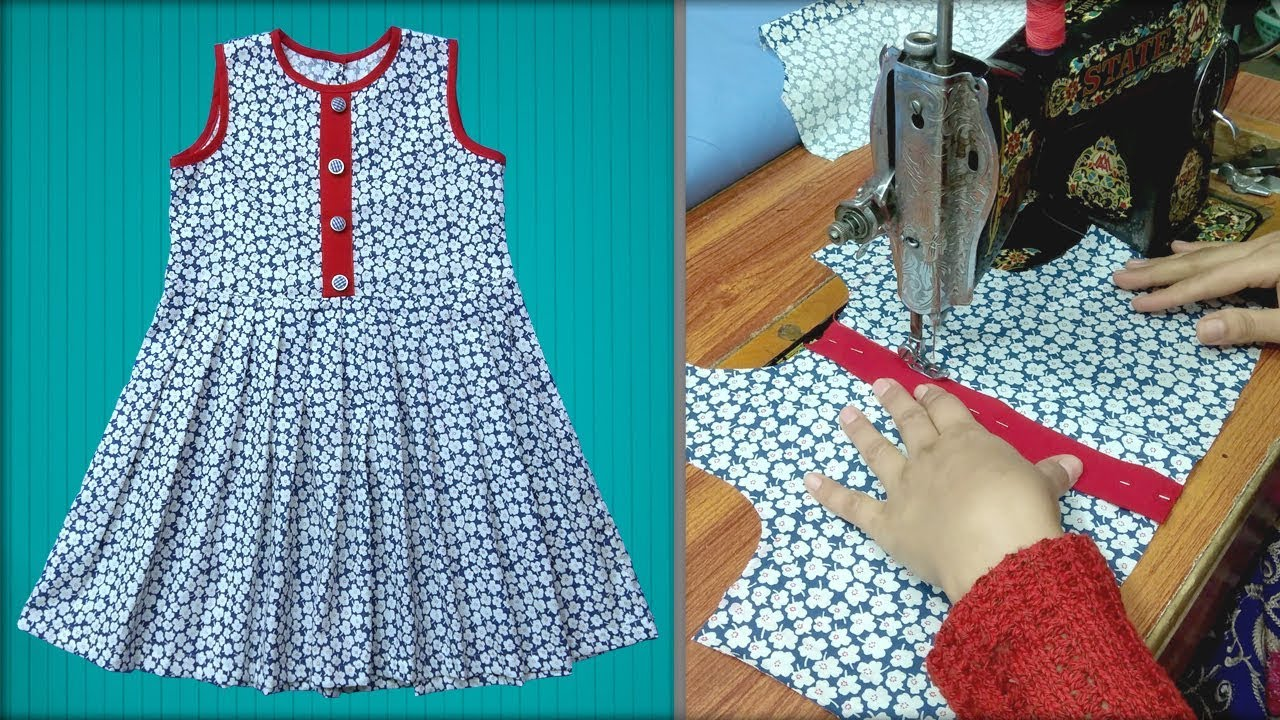 Baby Girl Frock Cutting And Stitching Full Step By Step Frock For Girls Youtube