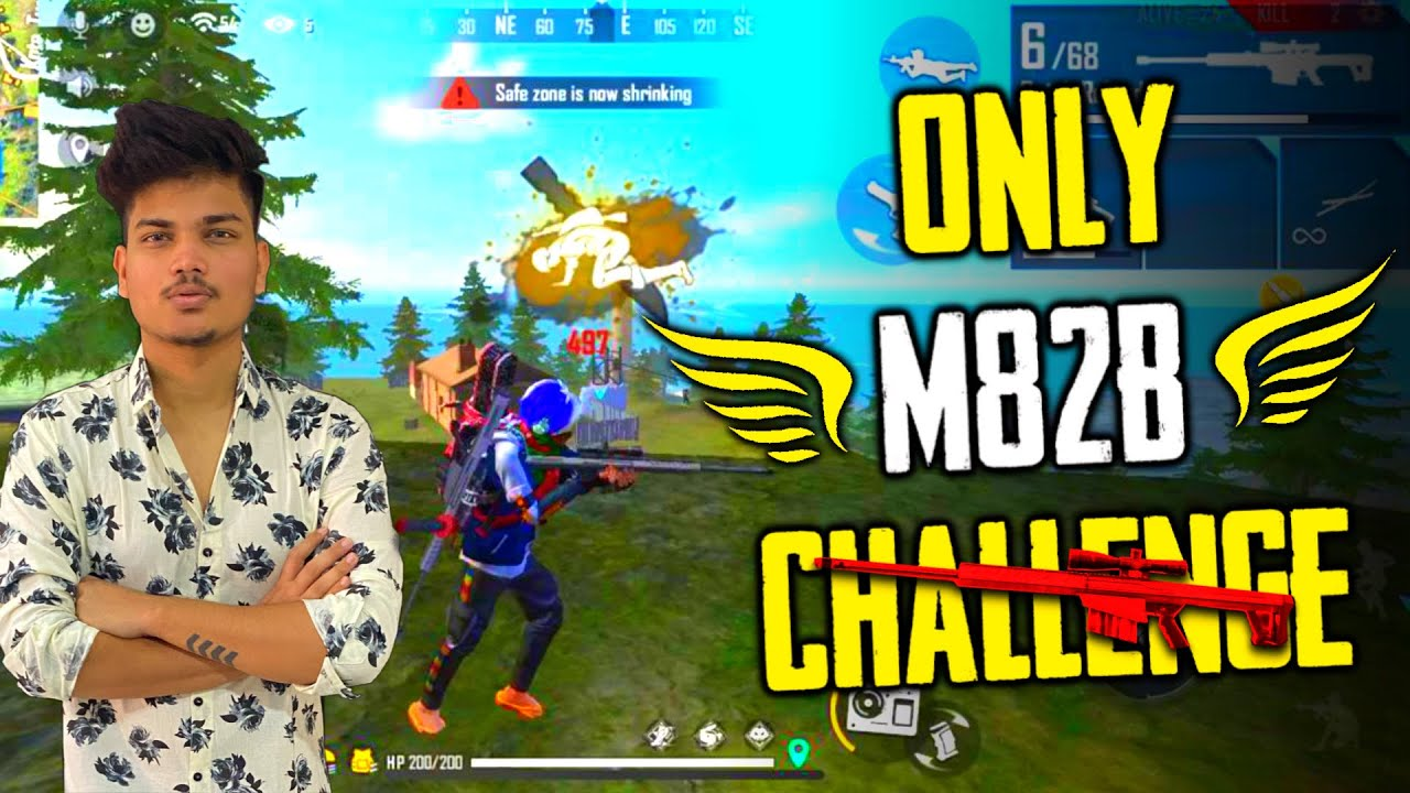 Only M82B Sniper Challenge In Rank Match || Duo Vs Squad With TSG冬Legend || Garena Free Fire