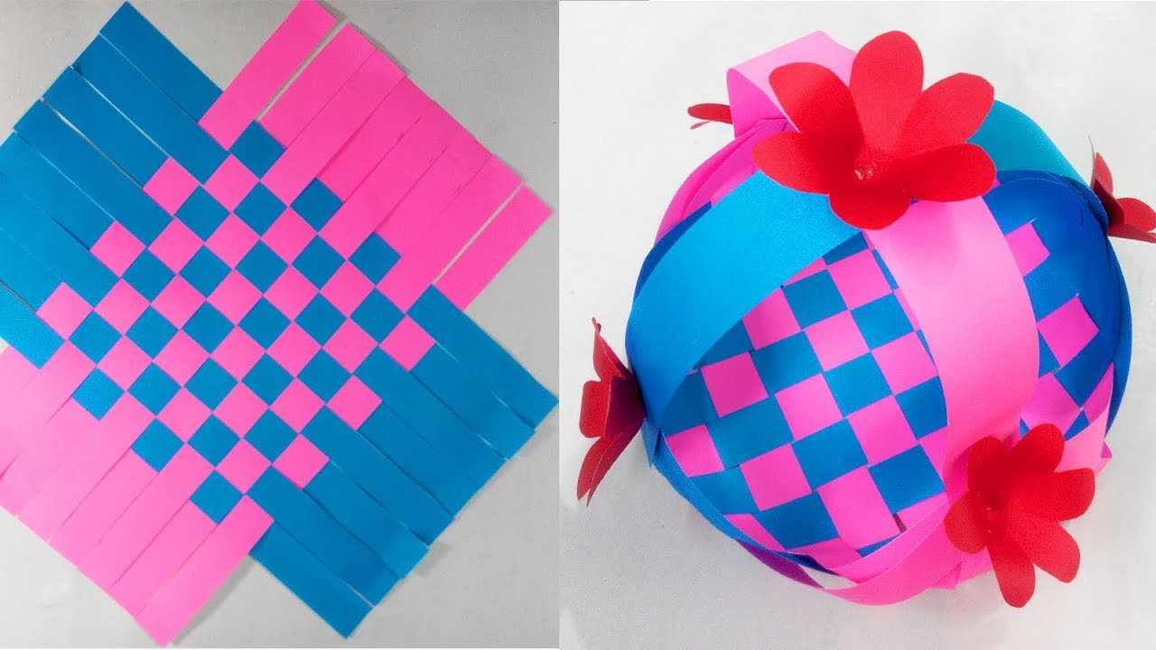 How To Make A Beautiful Paper Basket Craft Ideas 106 Youtube