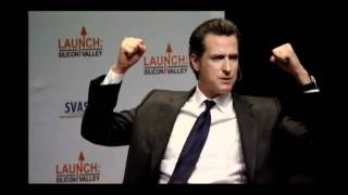 Gavin Newsom, Lieutenant Governor of California, at Launch: Silicon Valley 2011