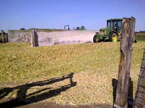 Making Cow Feed (Corn Silage)