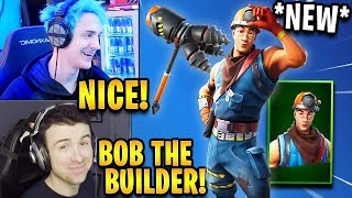 Streamers React to *NEW* Cole Skin & Rockbreaker Pickaxe! *RARE* | Fortnite Highlights