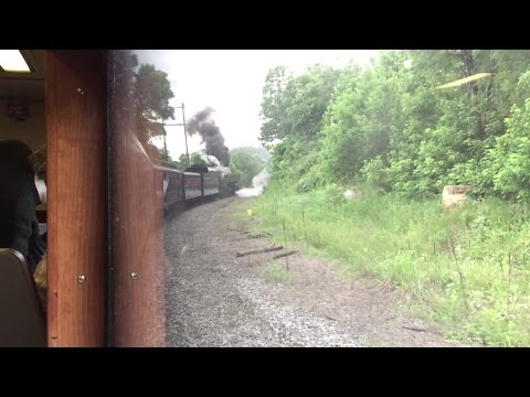"Riding Norfolk & Western J Class 611 ""The American"" Excursion Manassas - Front Royal Uncut 6/6/15"