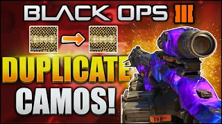 "HOW TO COPY ANY CAMO GLITCH! Black Ops 3 ""DUPLICATE COPY CAMO GLITCH"" - (BO3 ""COPY CAMO GLITCH"")"