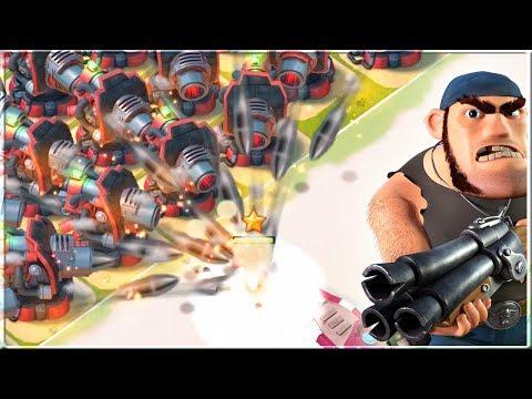 PVT Bullit vs ALL Boom Cannon Base! Boom Beach Base Builder Gameplay