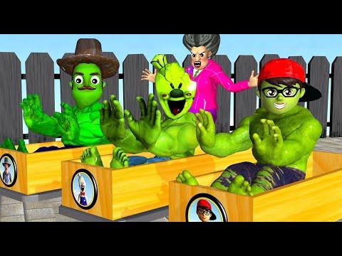 Scary Teacher 3D NickHulk Troll Rose Garden Miss T with Hello Neighbor Hulk and Ice Scream 4 Hulk