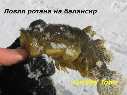зимняя рыбалка на ротана на балансир