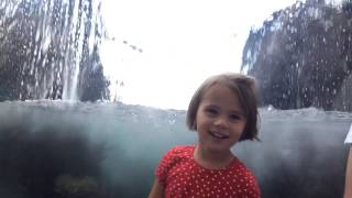 Charlotte Beckett having a blast from water fall at the Mon