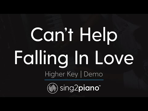 Can't Help Falling In Love (Higher Key - Piano Karaoke Demo) Haley Reinhart