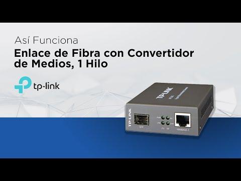 Así funciona - Enlace de fibra con convertidor de medios, 1 Hilo