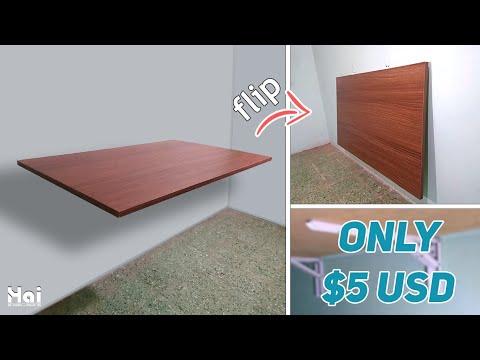 How To Make Folding Table   DIY Wall Mounted Desk   Membuat Meja Lipat