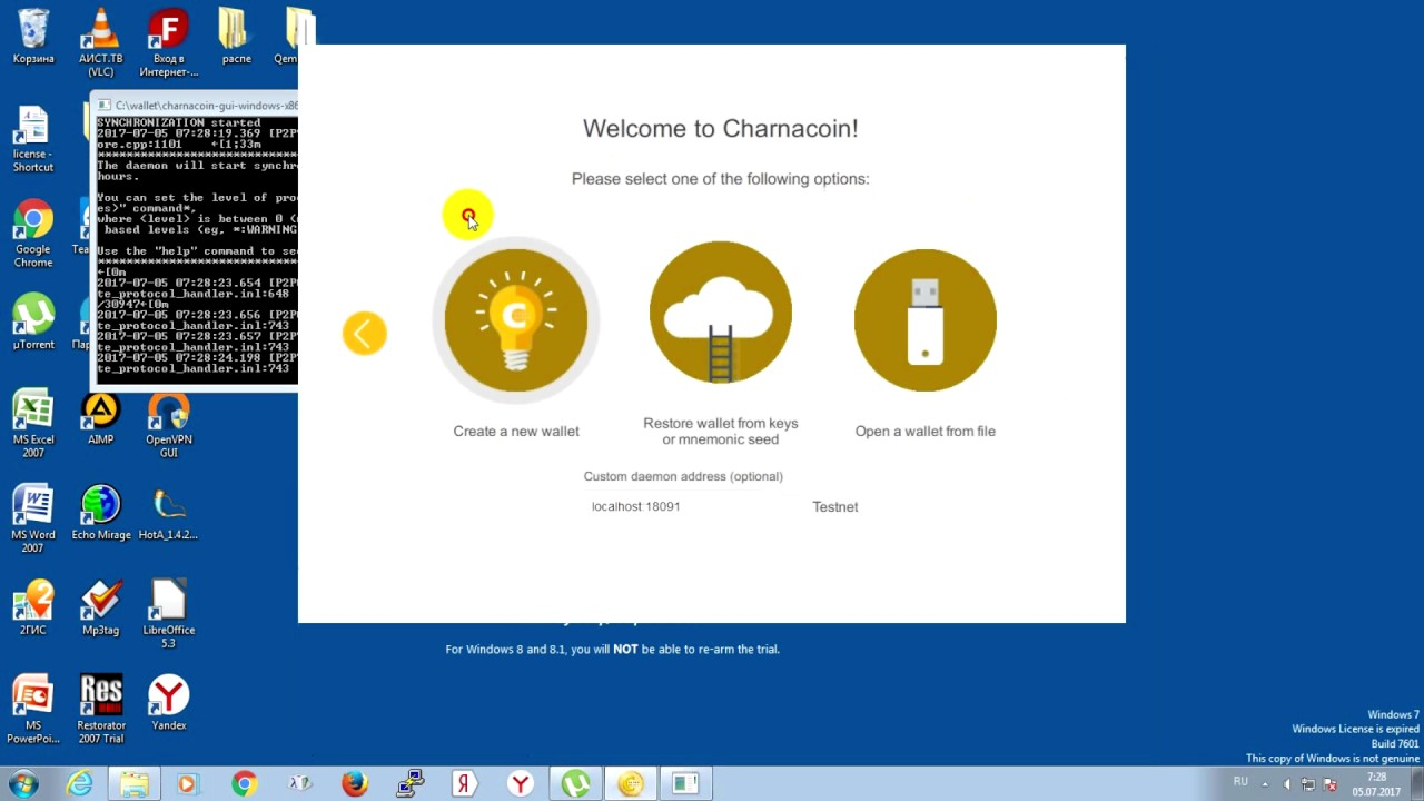 CharnaCoin GUI wallet mining m42 cx