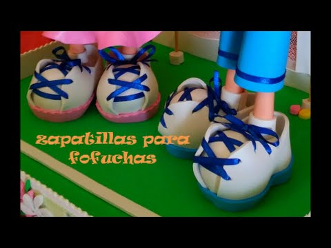 Tutorial zapatillas para fofuchas fáciles, manualidades con foamy