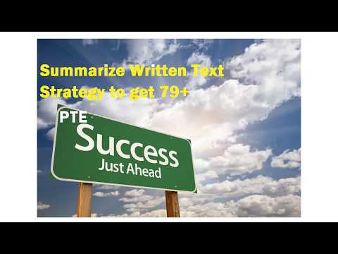 PTE Writing Strategy for Summarize written text To Score 79+
