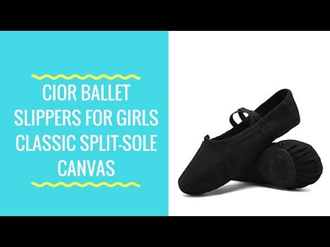 CIOR Ballet Slippers For Girls Classic Split-Sole Canvas Dance Gymnastics Yoga Shoes Flats