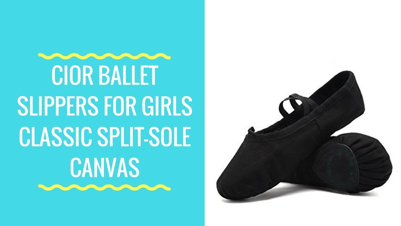 941749186de28 CIOR Ballet Slippers For Girls Classic Split-Sole Canvas Dance Gymnastics  Yoga Shoes Flats