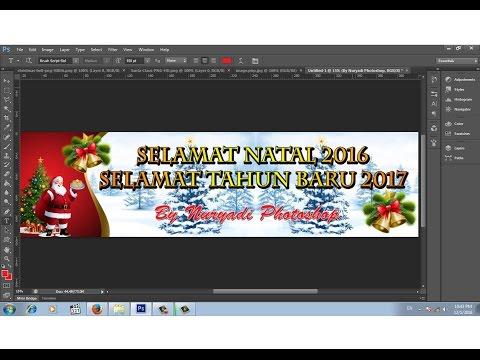 Cara Membuat Banner Selamat Natal Dan Tahun Baru