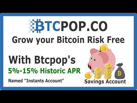 Btcpop's Bitcoin Savings Account